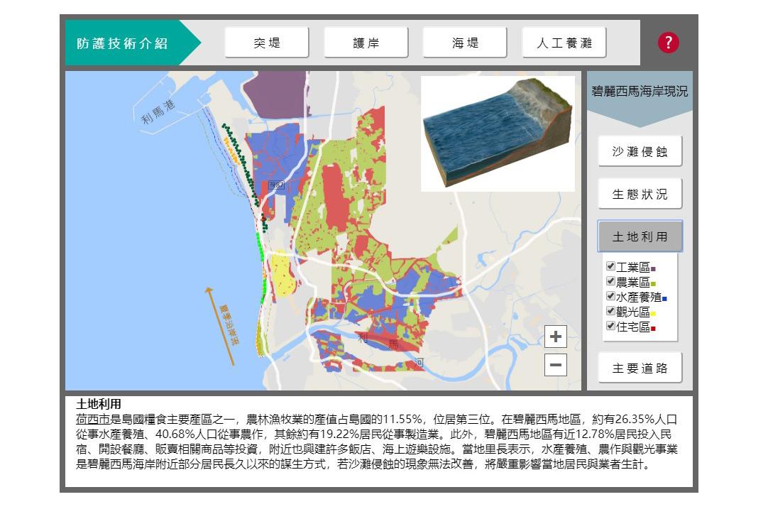 圖二:海岸變遷數位教材